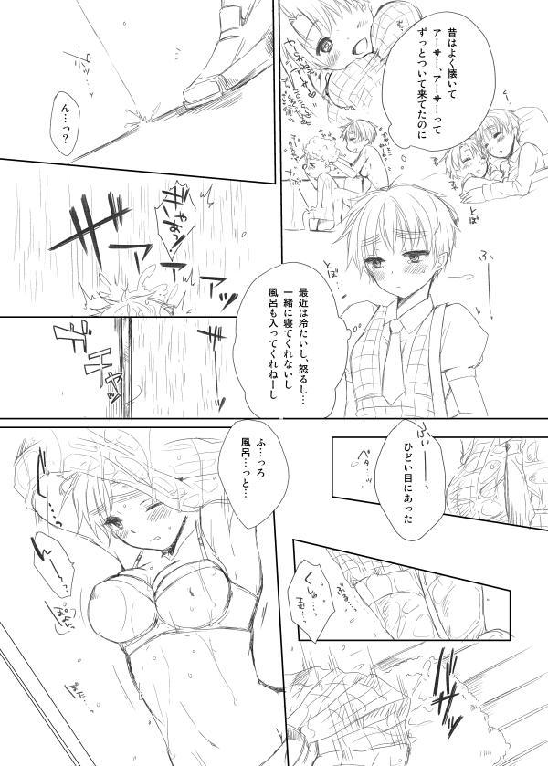 【腐・女体化注意】おねえちゃんとおふろ【米にょ英】 2