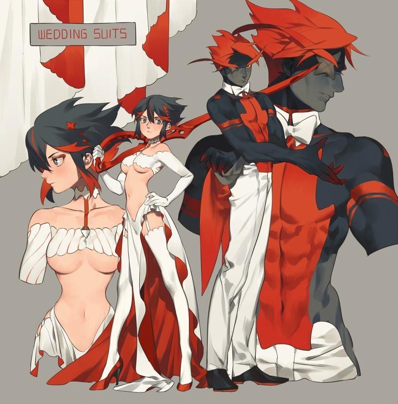 Senketsu X Ryuuko Wedding Artbook 13