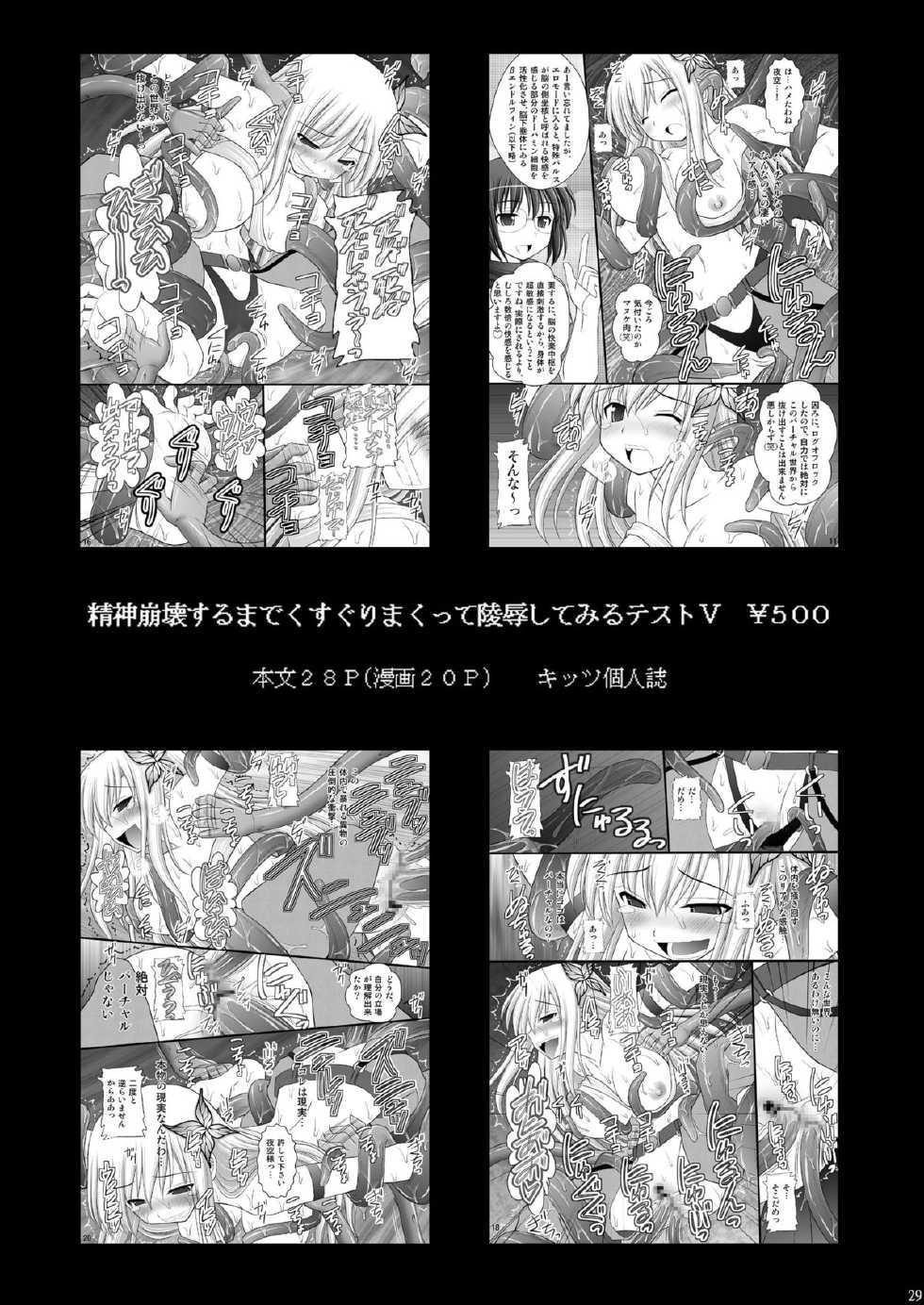Seishinhoukai Surumade Kusugurimakutte Ryoujoku Shitemiru Test VI & VIII 29
