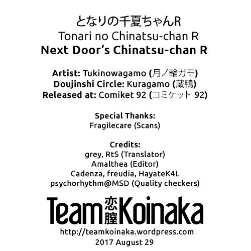 (C92) [Kuragamo (Tukinowagamo)] Tonari no Chinatsu-chan R | Next Door's Chinatsu-chan R [English] [Team Koinaka] 27