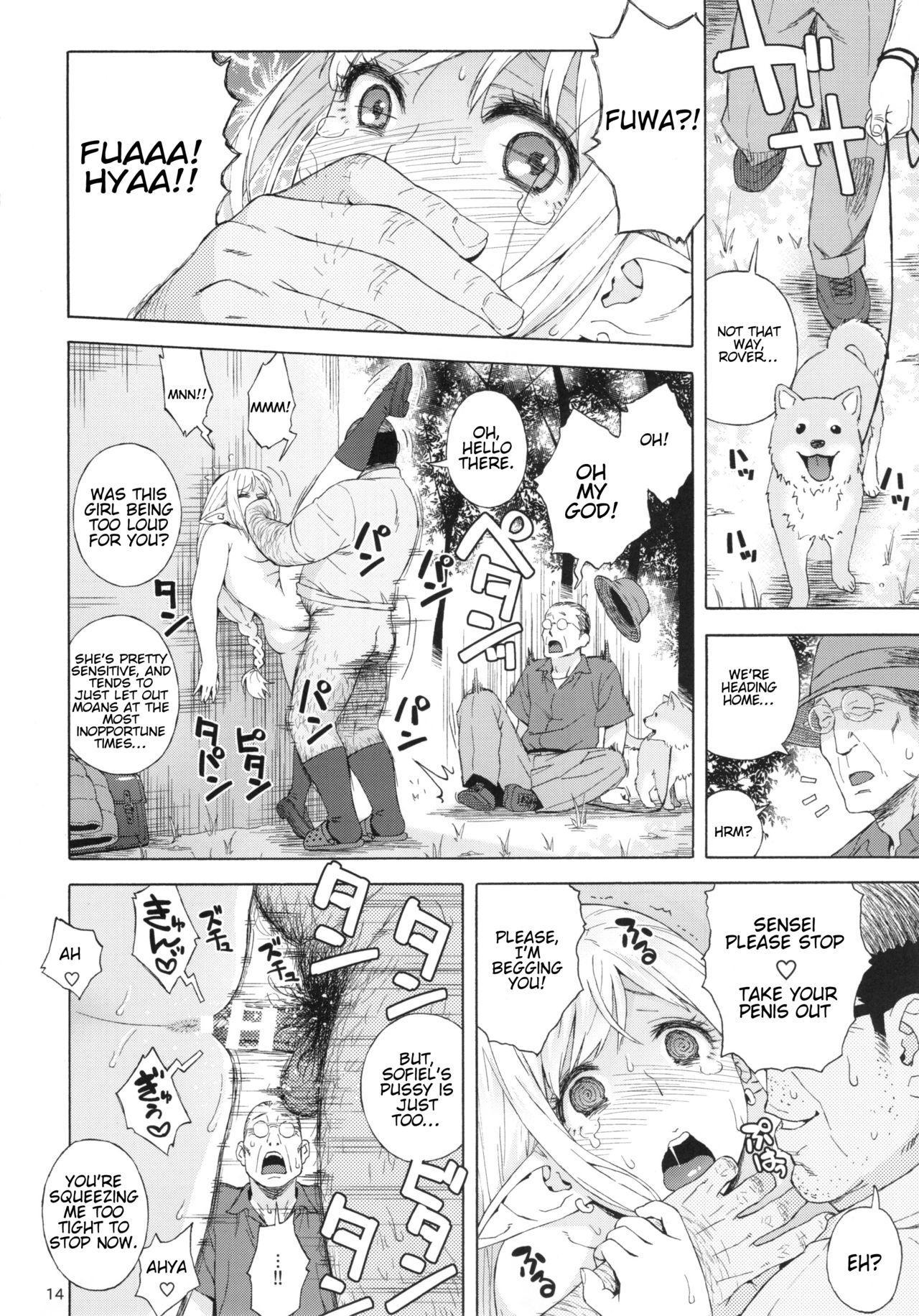 (C92) [666PROTECT (Jingrock)] Tenkousei JK Elf 3 -Houkago Yagai Jugyou- | High School Elven Transfer Student -After School Outdoor Lessons- [English] [Tremalkinger] 13