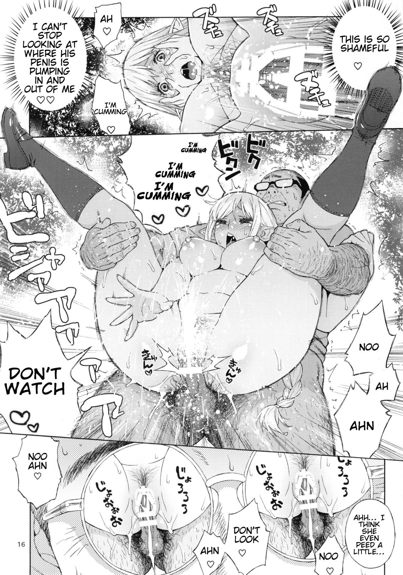 (C92) [666PROTECT (Jingrock)] Tenkousei JK Elf 3 -Houkago Yagai Jugyou- | High School Elven Transfer Student -After School Outdoor Lessons- [English] [Tremalkinger] 15