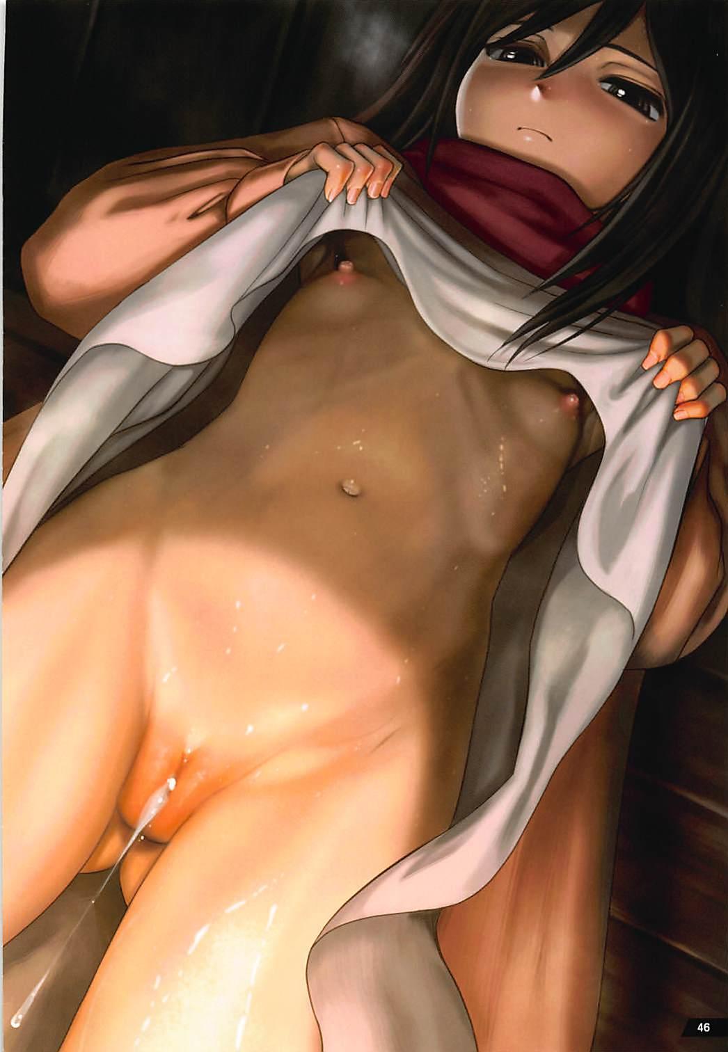Kyojin no Kumotsu-tachi Mikasa Hen 44