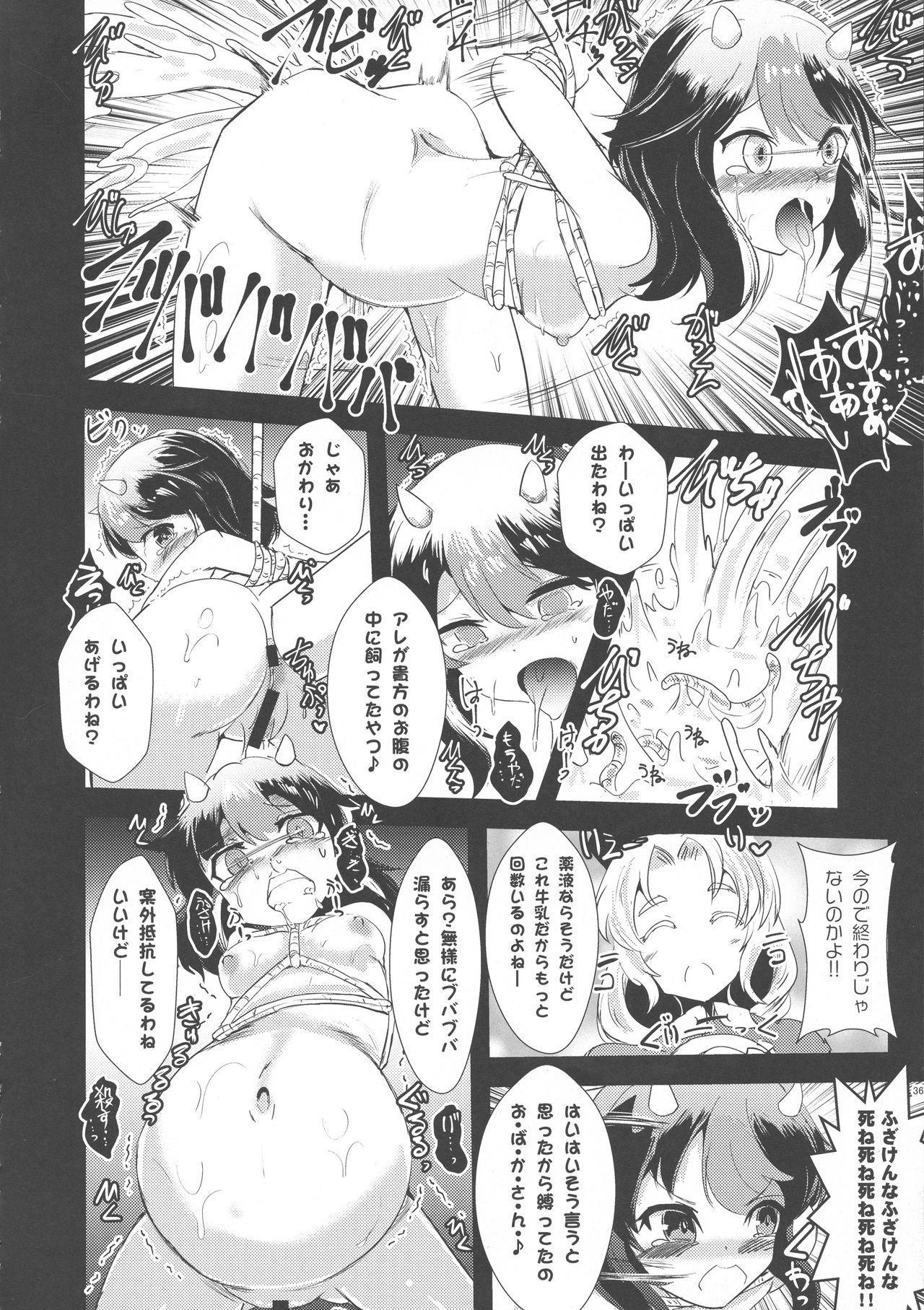 Yakumo Ran to Nakama-tachi vs Gyuunyuu Kanchou 35