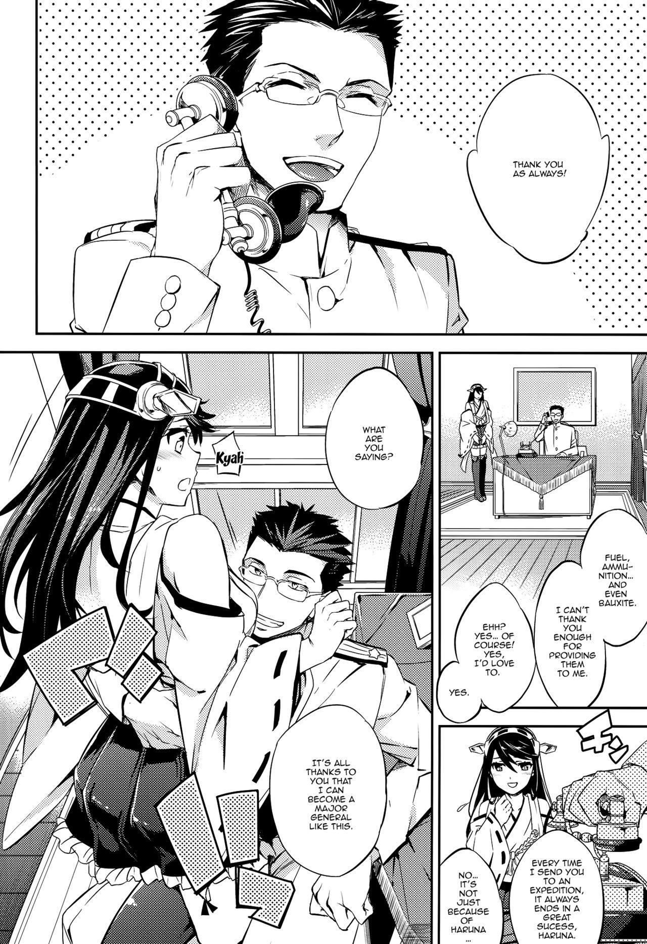 (C89) [Crazy9 (Ichitaka)] C9-22 Haruna wa Daijoubu desu!! | C9-22 Haruna's Fine!! (Kantai Collection -KanColle-) [English] {Doujins.com} 3