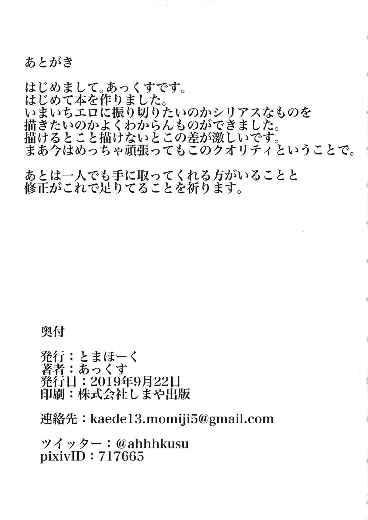 Kaga-san ni Haeta node Shimakaze ga Hitohada Nugimashita. 33