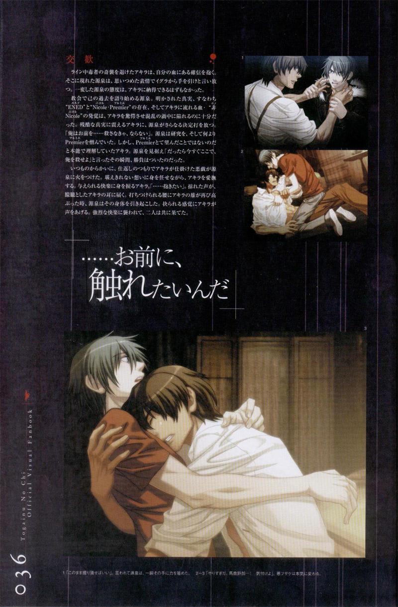 Togainu no chi -  Official Visual Fan Book 36