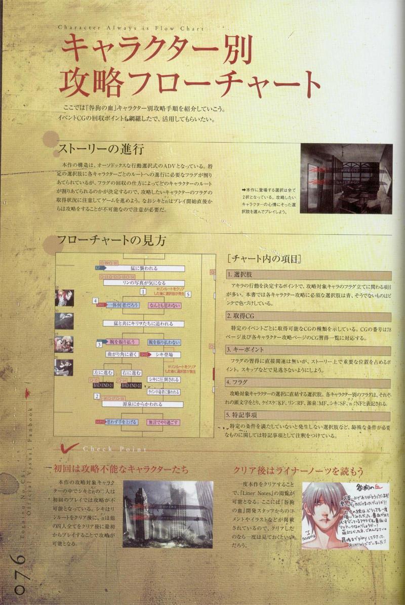 Togainu no chi -  Official Visual Fan Book 76